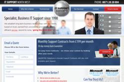 IT Support North West website